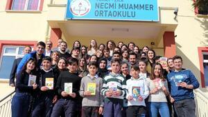 Üniversite öğrencileri Zile'de kütüphane kurdu