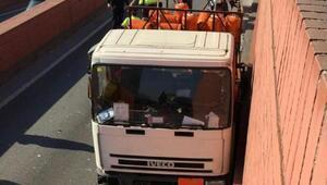 Barselona polisi bütan gazı yüklü kamyonla ters yönden giden sürücüyü vurdu