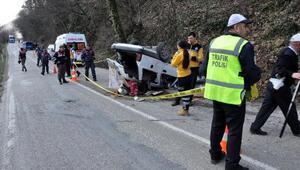 Bartında otomobil takla attı: 1 ölü, 2 yaralı