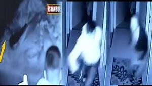 İstanbulda şoke eden görüntü Hırsızla göz göze geldi