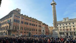 İtalyada Uber protestosu
