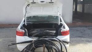 Büyükorhan'da kablo hırsızlarına suçüstü