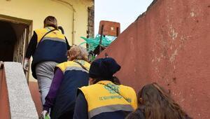 Süleymanpaşa Belediyesi'nden yangın sonrası evde bakım desteği