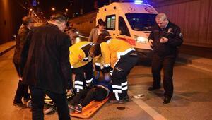 Alt geçide atlayan kadın, ağır yaralandı