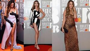 Brit Ödüllerinde kırmızı halıda şıklık yarışı