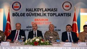 Bakan Soylu, güvenlik toplantısı için Erzurumda