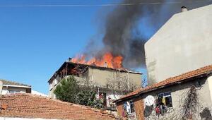 Soba evi yaktı