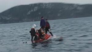 Çeşmede son anda kurtarılan mülteciler İzmire gönderildi