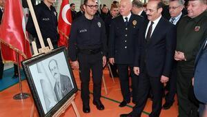 Yozgatta polis adaylarının resim sergisi