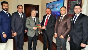 Azerbaycan Milletvekili Mirzezadeden ERÜ Rektörü Güvene ziyaret