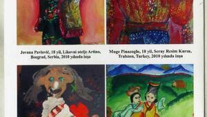 Uluslalararası çocuk resim yarışması sergisi Samsunda