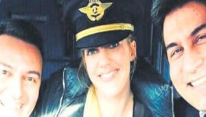 Kokpite giren Meryem Uzerli pilotların başını yaktı