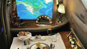 Sürekli first class uçan evsiz