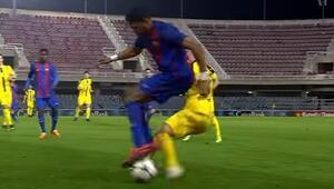Dakikalarca alkışlandı Jordi Mbouladan Messi golü...