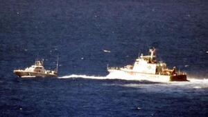 Türk botunu gören Yunan askerleri kaçtılar