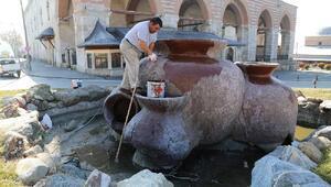 Edirne'de süs havuzları bahara hazırlanıyor