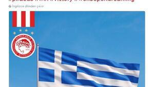 Olympiakosun olay paylaşımına tepki