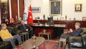 Mustafa Denizliden Büyükerşene ziyaret