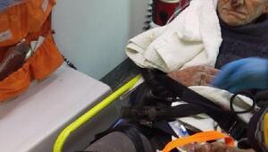 Yolda baygın halde bulunan yaşlı adam hastaneye kaldırıldı
