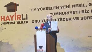 fotoğraflar//Kılıçdaroğlu, İstanbulda  Hayırlı Üniversiteliler gurubunu oluşturan gençlerle buluştu