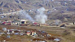 Irak sınırındaki Derecikte, PKK hedeflerine bomba yağdı