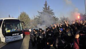 Fenerbahçeye Gaziantepte protestolu karşılama