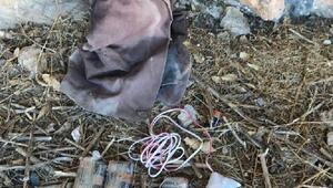 Hakkaride PKKya ait patlayıcı yapımında kullanılan malzemeler ele geçirildi