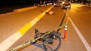 Kazada, bisikletli kaputun üstünde 61 metre sürüklendi