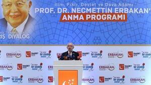 Kılıçdaroğlu, Erbakanı anma töreninde konuştu