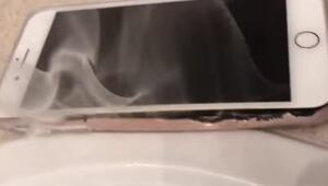 iPhone 7 kendi kendine böyle yandı