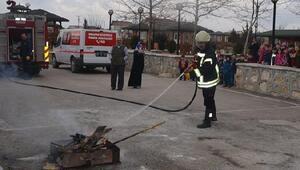 Suluova Belediyesi'nden yangın tatbikatı