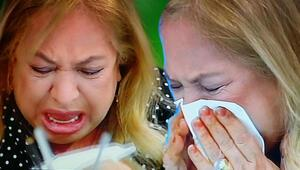 Canlı yayında gözyaşlarını tutamadı