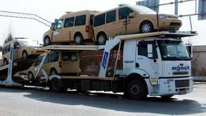 Suriyeli polislerin araçları da gönderildi