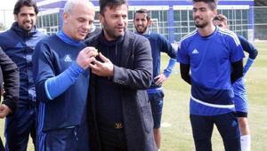 Gaziantepspor teknik direktörü Uygundan Oğuz Çetine hayırlı olsun ziyareti
