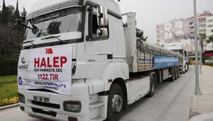 Antalyadan Halepe yardım konvoyu