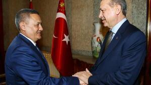 Fotoğraf // Cumhurbaşkanı Erdoğan, Özbekistan Başbakan Yardımcısı Rustam Azimov'u kabul etti