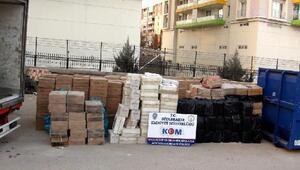 Diyarbakırda 2 milyon 282 bin liralık kaçak sigara ele geçirildi