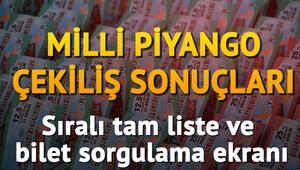 28 Şubat Milli Piyango çekiliş sonuçları - Milli Piyango bilet sorgulama