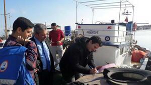 Ayvalıkta yeni tekneyle balıkçı denetimi