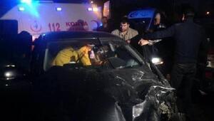 Otomobil ile cip çarpıştı; 3 yaralı