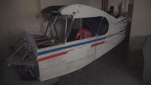Bodrum katındaki uçağa polis incelemesi