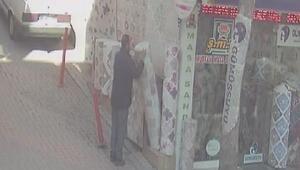 Aksaraydaki halı hırsızğığı güvenlik kamerasında
