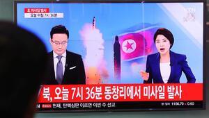 Son dakika: Kuzey Koreden tehlikeli hamle... 4 füze...