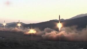 Kuzey Kore, fırlattığı 4 balistik füzenin görüntülerini yayınladı