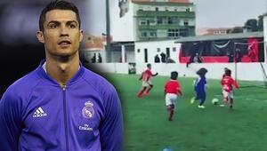 İşte Ronaldo'nun yeğeni Tıpkı Messi…