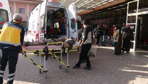 El Babda yaralanan 5 Suriyeli sivil tedavi için Kilise getirildi