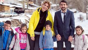 Erzurumun küçük bir köyüne Amerikadan yardım geliyor