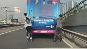 Patenci gençlerin tehlikeli yolculuğu kamerada