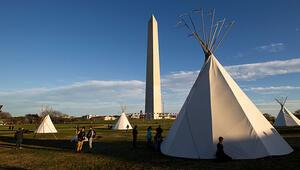 Boru hattı protestosu için Kızılderili çadırı kurdular