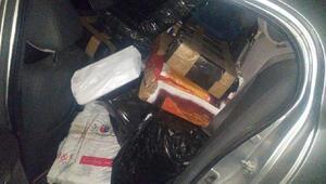 Polisten kaçan araçtan kaçak sigara çıktı